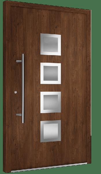 Drzwi zewnętrzne brązowe